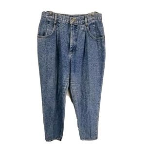 Vintage Lee high waist mom jeans pleated frosted